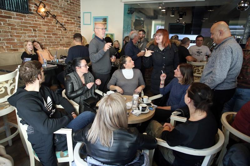 27.11.2017., Zagreb - Otvorenje Silent caffea, prvog kafica u kojem su zaposleni gluhi i nagluhi konobari. Photo: Goran Stanzl/PIXSELL